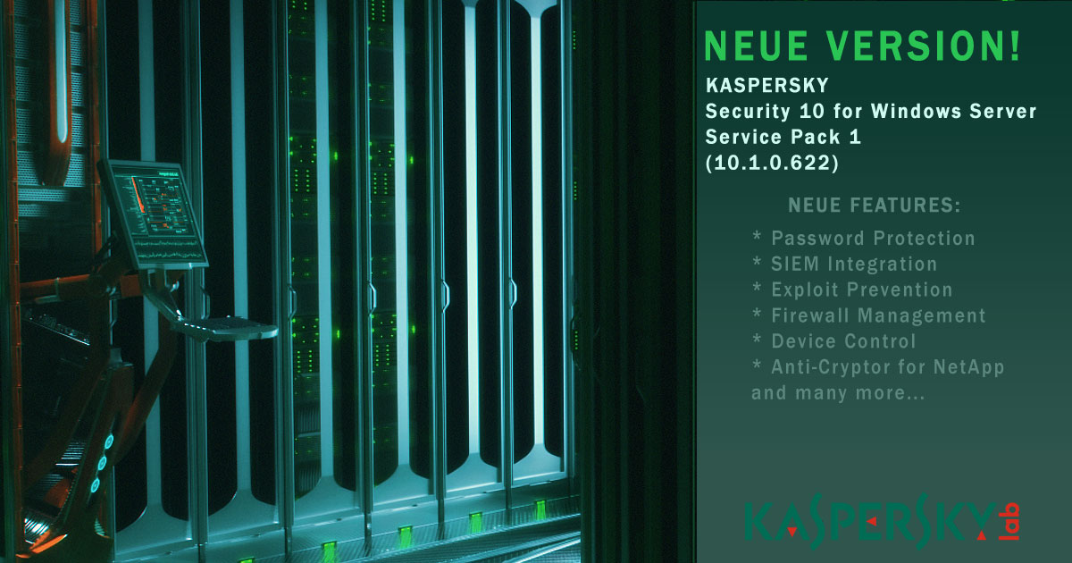 kaspersky security 10 for windows server service pack 1