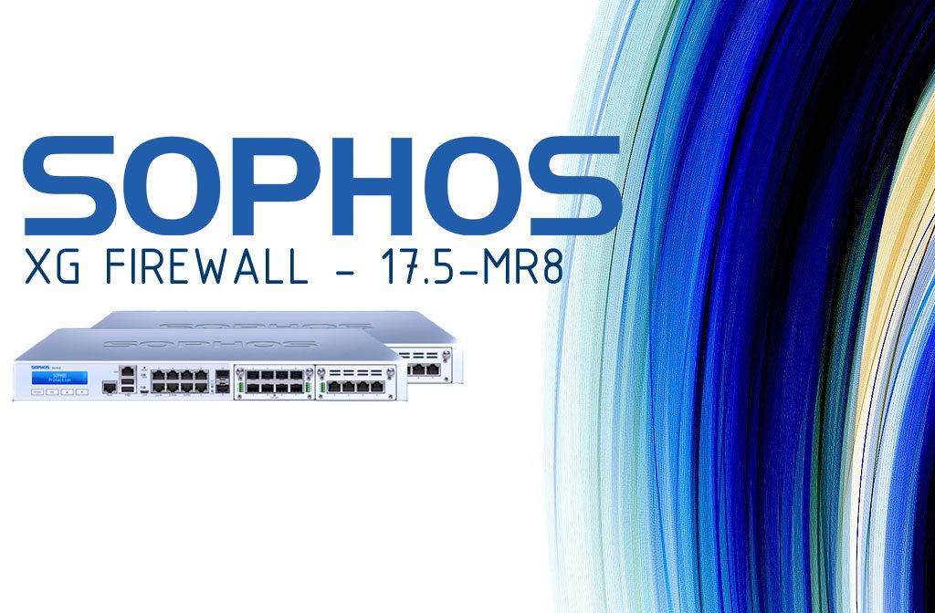 Release SFOS 17.05 MR8